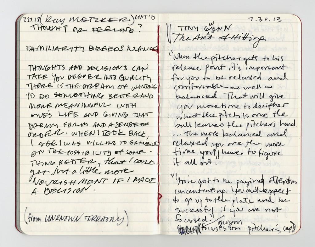 Notebook of Kate Joyce. July 13, 2013.