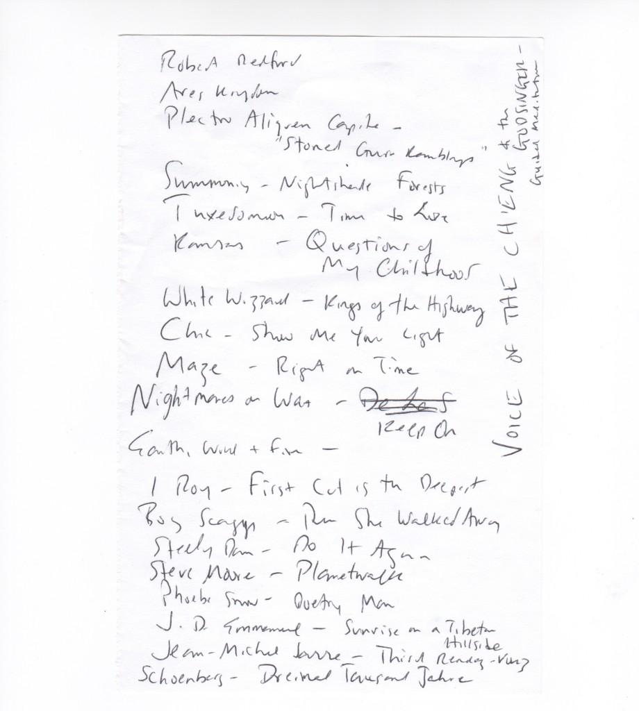 Darnielle setlist 2