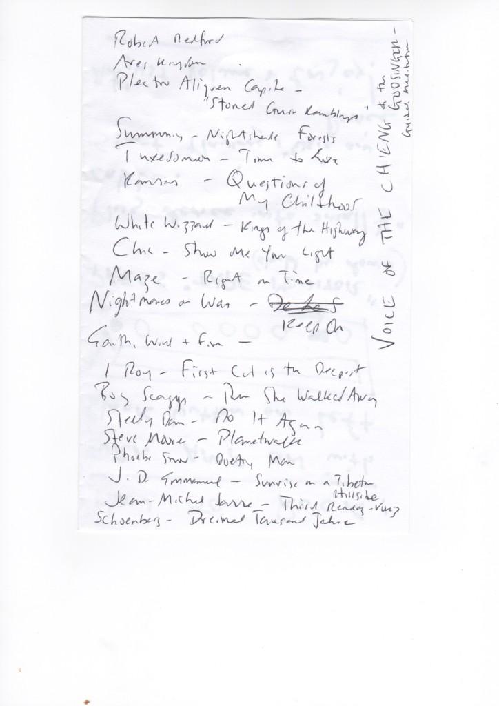 The Last Kissa:  John Darnielle's Setlist